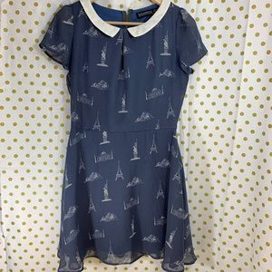 Modcloth Sugarhill Monuments dress size 6 Eiffel